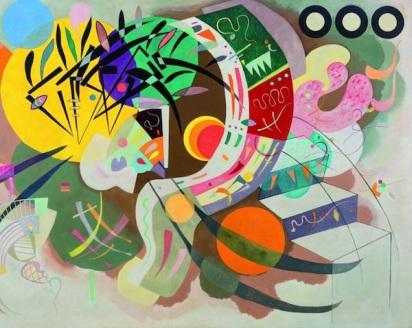 Wassily Kandinsky, La curva dominante , particolare